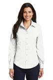 Women's Long Sleeve Non-iron Twill Shirt White Thumbnail