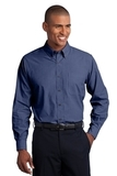 Tall Crosshatch Easy Care Shirt Deep Blue Thumbnail