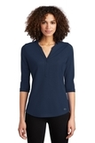 Women's OGIO Jewel Henley Navy Thumbnail