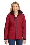Women's Vortex Waterproof 3in1 Jacket Rich Red with Black Thumbnail