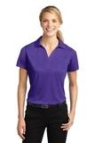 Women's Heather Contender Polo Varsity Purple Heather Thumbnail