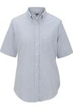 Women's Dress Button Down Oxford SS Blue Stripe Thumbnail