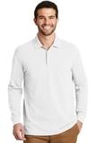 EZ-Cotton Long Sleeve Polo White Thumbnail