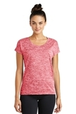 Women's Electric Heather Sporty Tee Deep Red Electric Thumbnail