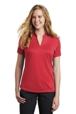 Women's Nike Golf Dri-FIT Hex Textured V-Neck Top Gym Red Thumbnail
