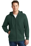 Super Heavyweight Full-zip Hooded Sweatshirt Dark Green Thumbnail