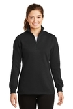 Women's 1/4-zip Sweatshirt Black Thumbnail