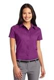 Women's Short Sleeve Easy Care Shirt Deep Berry Thumbnail