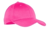 Youth 6-panel Twill Cap Neon Pink Thumbnail