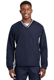 Tipped V-neck Raglan Wind Shirt True Navy with White Thumbnail