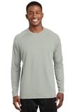 Dry Zone Long Sleeve Raglan T-shirt Silver Thumbnail