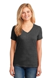 Women's 5.4-oz 100 Cotton V-neck T-shirt Dark Heather Grey Thumbnail