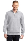 Sport-tek Super Heavyweight 1/4-zip Pullover Sweatshirt Athletic Heather Thumbnail