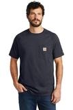 Carhartt Force Cotton Delmont Short Sleeve T-Shirt Navy Thumbnail