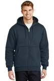 Heavyweight Full-zip Hooded Sweatshirt With Thermal Lining Navy Thumbnail