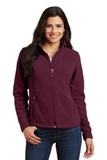 Women's Value Fleece Jacket Maroon Thumbnail