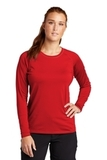 Ladies Long Sleeve Rashguard Tee True Red Thumbnail