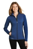 Women's Eddie Bauer Full-Zip Heather Stretch Fleece Jacket Blue Heather Thumbnail