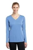 Women's Long Sleeve V-neck Competitor Tee Carolina Blue Thumbnail