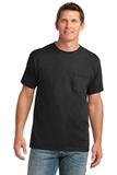 5.4-oz 100 Cotton Pocket T-shirt Jet Black Thumbnail