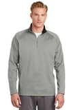 1/4-zip Fleece Pullover Silver with Black Thumbnail