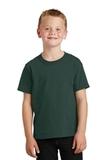 Youth 5.5-oz 100 Cotton T-shirt Dark Green Thumbnail