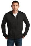 Young Men's Lightweight Jersey Full-zip Hoodie Black Thumbnail