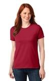 Screenprinted Women's 50/50 Cotton / Poly T-shirt Red Thumbnail