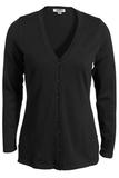 Women's Corporate Performance V-neck Longer Cardigan Black Thumbnail