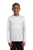 Youth Long Sleeve Competitor Tee White Thumbnail