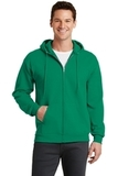 7.8-oz Full-zip Hooded Sweatshirt Kelly Thumbnail