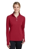 Women's Textured 1/4-Zip Pullover Deep Red Thumbnail