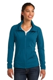 Women's Sport-wick Stretch Full-zip Jacket Peacock Blue Thumbnail