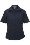 Women's Easy Care Poplin Shirt SS Navy Thumbnail