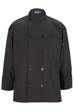 10 Pearl Button Chef Coat Steel Grey Thumbnail