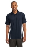 Micro-mesh Colorblock Polo True Navy with White Thumbnail