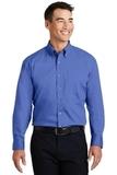 Long Sleeve Twill Shirt Faded Blue Thumbnail