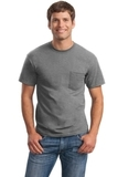 Ultra Cotton 100 Cotton T-shirt With Pocket Sport Grey Thumbnail