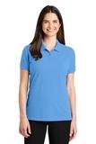 Women's EZ-Cotton Polo Azure Blue Thumbnail