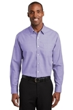 Red House Windowpane Plaid Non-iron Shirt Thistle Purple Thumbnail