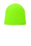 Fleece-Lined Beanie Cap Neon Green Thumbnail