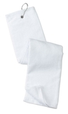Grommeted Tri-fold Golf Towel White Thumbnail
