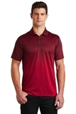 Ombre Heather Polo Deep Red with Black Thumbnail
