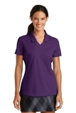 Women's Nike Golf Shirt Dri-FIT Micro Pique Polo Shirt Night Purple Thumbnail