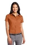 Women's Short Sleeve Easy Care Shirt Texas Orange with Light Stone Thumbnail