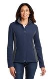 Women's Colorblock Value Fleece Jacket True Navy with Battleship Grey Thumbnail