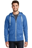 New Era Sueded Cotton Full-Zip Hoodie Royal Heather Thumbnail