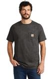 Carhartt Force Cotton Delmont Short Sleeve T-Shirt Carbon Heather Thumbnail