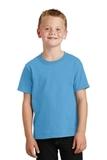 Youth 5.5-oz 100 Cotton T-shirt Aquatic Blue Thumbnail