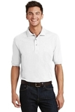 Pique Knit Polo Shirt With Pocket White Thumbnail